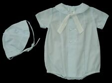 Boys PETIT AMI Blue SAILOR Bubble Romper Set 3m Onepiece Shortall Outfit Tie