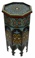 Moroccan wood table coffee table end table handmade  Middle Eastern Arabesque