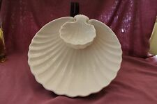 Vintage Fitz & Floyd Coquille Shell Chip & Dip Serving Bowl One Piece