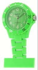 Neon T Unisex Nurses Fob Watch NE12/C with Green Dial and Green Plastic Strap