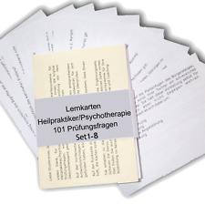 Komplettpaket Lernkarten Prüfungsfragen Heilpraktiker Psychotherapie