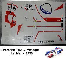 DECALS  PORSCHE 962 C  LE MANS  1990  PRIMAGAZ