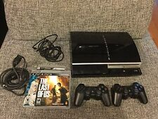 Sony PlayStation 3 PS3 160 GB Console W/ Controllers 3 Games CECHP01 Fat Black