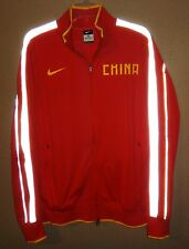 NEW MENS L NIKE TEAM CHINA CHINESE TRACK TOP ATHLETIC JACKET OLYMPICS 3M RARE