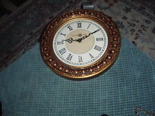 "ASTOR LANE TOLE STYLE Antique Look QUARTZ WALL CLOCK 13"" Works Great VG !"