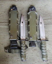 2 - Military Issued M9 Phrobis III Fighting Knife With Scabbard and Stone