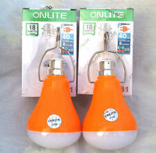 SET OF 2 18W 40 LED/SMD RECHARGEABLE EMERGENCY LIGHT BULB  LAMP WITH2 MODE AC/DC