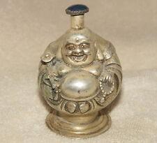 Eine alte Silber Buddha-Statue Snuff Bottles, mit Stempel