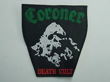 CORONER DEATH CULT EMBROIDERED PATCH