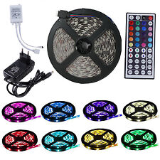 5m RGB LED Strip Band Leiste Stripe Streifen Lichtkette Licht Lichter 5050 SMD