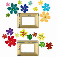 Adesivi Murali interruttori  fiori colorati switch stickers flowers color 20 pz.