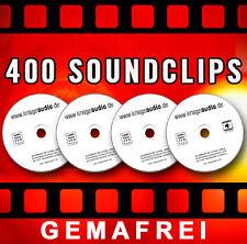 400 Geräusche - 4 CDs  GEMAFREIE Soundclips CD - GEMAFREI - SUISA FREI