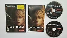 Silent Hill 3 Tested for Sony Playstation 2 PS2 Black Label with Soundtrack