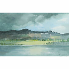 Tim Jones The Rhone Lyon Modern Framed French Landscape Watercolour Painting