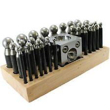 37 Pc Doming bloque y Punch Set hecha de acero dapping Metal Shaping Tool Craft