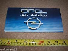 FOLLETO de la gama de coche Opel Prospekt 1984 vehículo catálogo Vintage Perfecto Estado