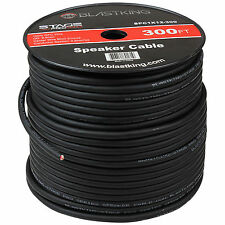 Blastking 12AWG Gauge 2 Conductor 300' Ft 100% OFC Stage Speaker Cable Wire Bulk