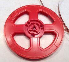 "Vintage 8mm 5"" 200ft. Plastic Film Reel In Red #2"