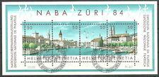 Schweiz - Nat. Briefmarkenausstellung NABA 1984 gestempelt Block 24 Mi. 1276/79