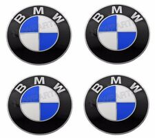 BMW (1984+) Wheel Center Cap Emblems 70mm (x4) GENUINE Roundel Logo Sticker