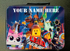 Personalised Custom Lego Movie Style Insulated Lunch Bag 24CM X 18CM BLUE