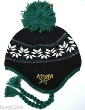 CCM VINTAGE NHL POM POM KNIT HAT/ BEANIE/TOQUE CHULLO - DALLAS STARS