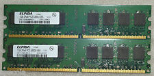 2 GB DDR2 PC2-5300 5300U DDR2-667 MHZ MEMORY DIMM PC DESKTOP RAM (2X1GB) 240 PIN
