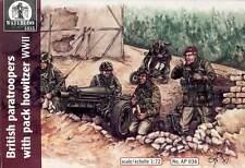 Waterloo Britsh paratroopers Obús Paracaidistas con Obús 1:72 Kit construcción
