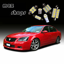 12Pcs White Interior LED Light Bulbs Package Kit for  Nissan Altima 2002-2006