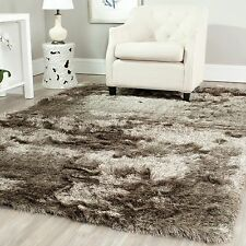 Safavieh Handmade Silken Glam Paris Shag Sable Brown Polyester Area Rug (5' x 8'