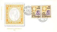 FDC Milvio - Italia - 1962 - Giornata del Francobollo - NVG - ann. Trieste fil.