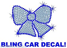 Cheer Bow Sport Mom Bows Fear Dance Rhinestone Bling Car Decal Sticker 50-14