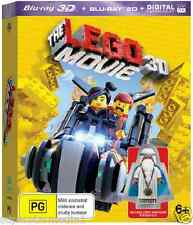 The Lego Movie 3D + Vitruvius Minfigure : NEW Blu-Ray 3-D