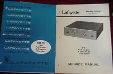 LAFAYETTE SQ-W 4 CHANNEL QUAD DECODER MANUALS 39 Pages