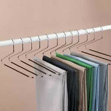 Slacks Hangers Open Ended Easy Slide Organizers 12 Piece Set NEW Pants