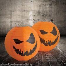 Halloween Pumpkin Paper Lanterns 2 Pack