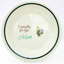 Vintage Brookstone Especially for You Mum Ironstone Side Tea Plate Floral Rose