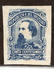 URUGUAY Sc#50 VARIETY IMPERFORATED MINT NO GUM MILITARY PRESIDENT SANTOS