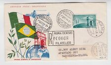 1958 Registered FDC to spain       d189
