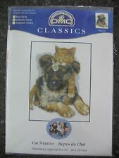 Cat Slumber Cross Stitch Kit K5418 8x10 DMC Classics Puppy Kitten Sue Hall 2005