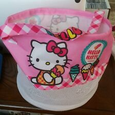 "Hello Kitty Tote Bag Foldable Cloth Mesh 9"" Tall Beach Vacation Park NWT"