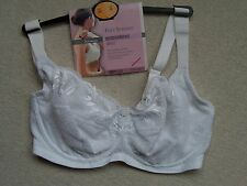 NEW Marks and Spencer POST SURGERY EMBROIDERED WIRED WHITE BRA 32E