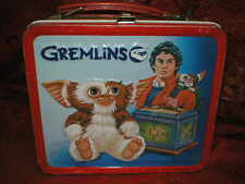 Collectible  Vintage 1984 Aladdin Gremlins metal lunchbox lunch box & thermos
