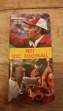 Vintage 1977 USC TROJANS College Football Program Media Guide - Ronnie Lott