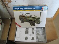 Willys Jeep M2 machine gun 1/24 model car kit Italeri free ship