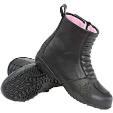 JOE ROCKET TRIXIE BOOTS LEATHER STREET BIKE MOTORCYCLE WOMENS BLACK/PINK U.S. 6