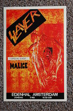 Slayer Concert Tour Poster 1987 Amsterdam