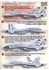 Print Scale Decals 1/144 SUKHOI Su-27 FLANKER Russian Jet Fighter