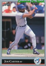375   JOE CARTER    TORONTO BLUE JAYS  BASEBALL CARD LEAF 1992