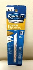 Century Drill and Tool 6210 Universal Shank Cobalt Bi-Metal Jig Saw Blade 10T